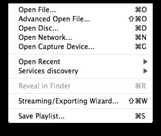 1-file menu